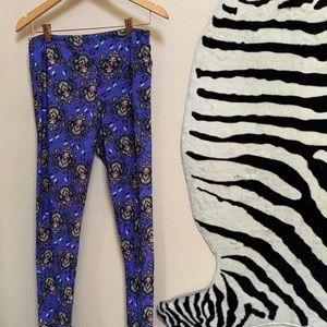 LULAROE pre loved purple floral design pants